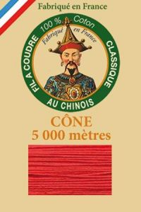 Fil Au Chinois cotton sewing thread 5 000m cone 6532 Red