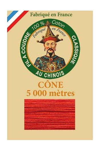 Fil Au Chinois cotton sewing thread 5 000m cone 6539 Strawberry