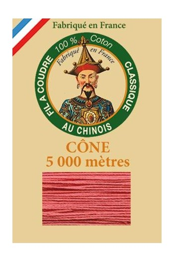 Fil Au Chinois cotton sewing thread 5 000m cone 6570 Peony