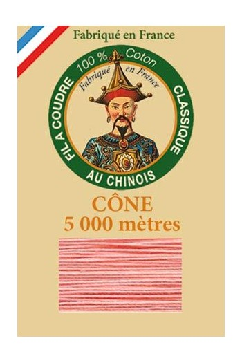 Fil Au Chinois cotton sewing thread 5 000m cone 6562 Coral