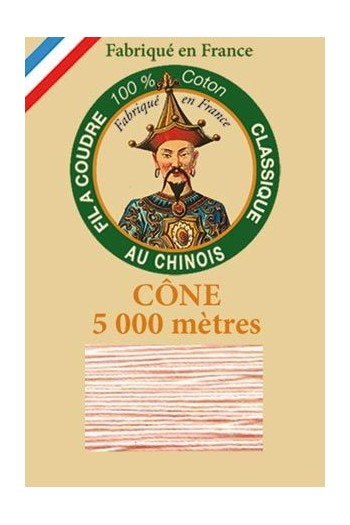 Fil Au Chinois cotton sewing thread 5 000m cone 6566 Camellia
