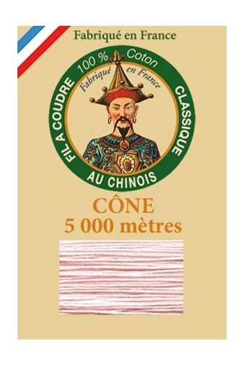 Fil Au Chinois cotton sewing thread 5 000m cone 6586 Powder