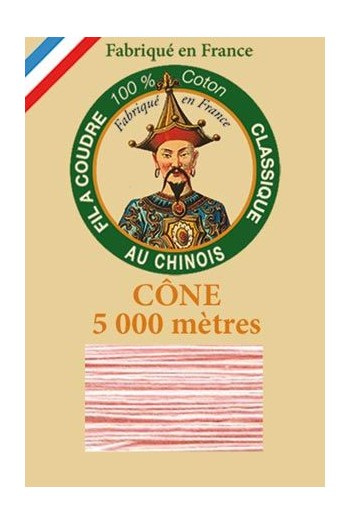 Fil Au Chinois cotton sewing thread 5 000m cone 6585 Blush