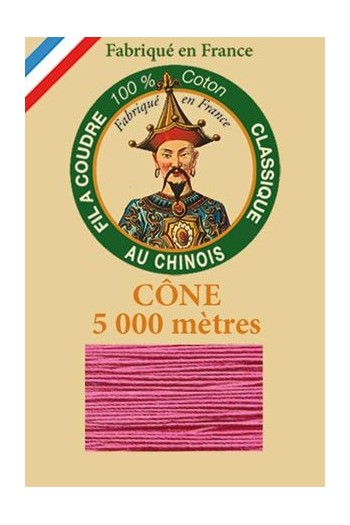 Fil Au Chinois cotton sewing thread 5 000m cone 6573 Anemone