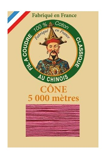 Fil Au Chinois cotton sewing thread 5 000m cone 6597 Rosewood