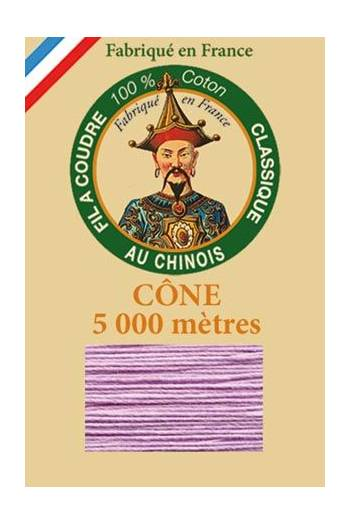 Fil Au Chinois cotton sewing thread 5 000m cone 6603 Lilac