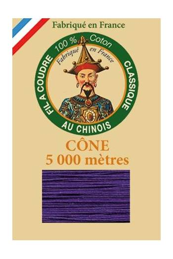 Fil Au Chinois cotton sewing thread 5 000m cone 6631 Violet