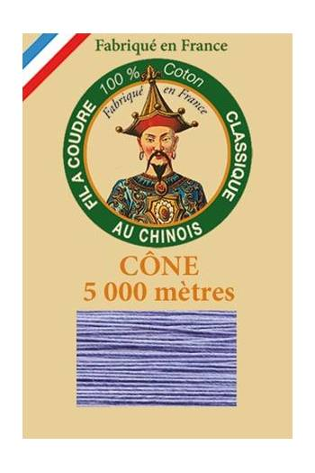 Fil Au Chinois cotton sewing thread 5 000m cone 6726 Forget me not