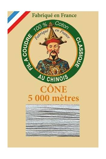 Fil Au Chinois cotton sewing thread 5 000m cone 6110 Mouse