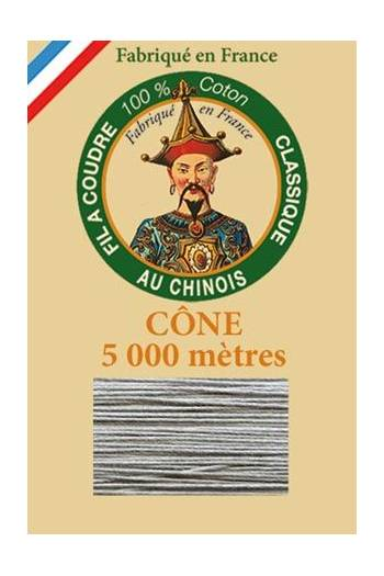 Fil Au Chinois cotton sewing thread 5 000m cone 6125 Steel