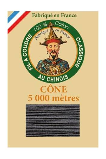 Fil Au Chinois cotton sewing thread 5 000m cone 6155 Anthracite