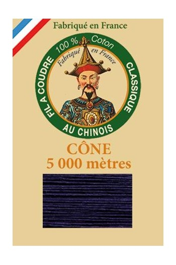 Fil Au Chinois cotton sewing thread 5 000m cone 6764 Navy blue