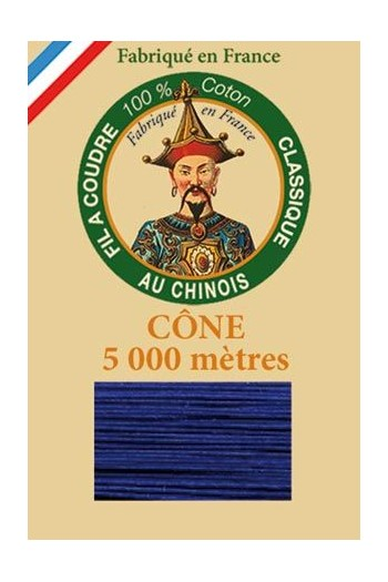 Fil Au Chinois cotton sewing thread 5 000m cone 6749 Night