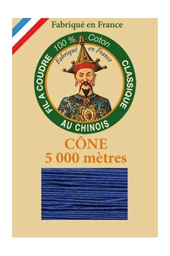 Fil Au Chinois cotton sewing thread 5 000m cone 6790 Royal blue