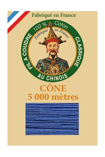 Fil Au Chinois cotton sewing thread 5 000m cone 6733 Nattier blue