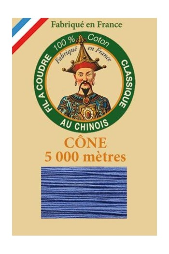 Fil Au Chinois cotton sewing thread 5 000m cone 6731 Cornflower