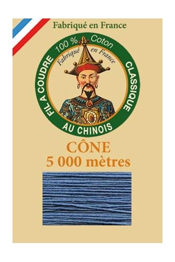 Fil Au Chinois cotton sewing thread 5 000m cone 6732 Ocean