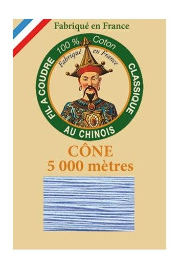 Fil Au Chinois cotton sewing thread 5 000m cone 6722 Azure