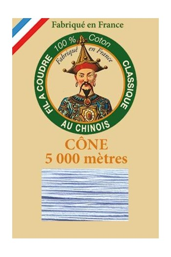 Fil Au Chinois cotton sewing thread 5 000m cone 6750 Sky blue