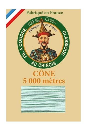 Fil Au Chinois cotton sewing thread 5 000m cone 6802 Jade green