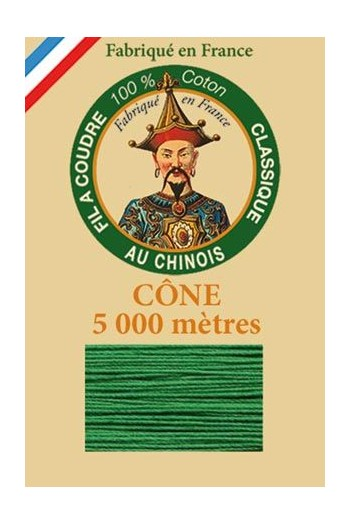 Fil Au Chinois cotton sewing thread 5 000m cone 6867 Green