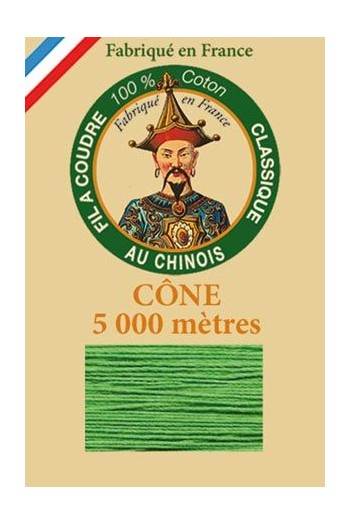 Fil Au Chinois cotton sewing thread 5 000m cone 6871 Lawn