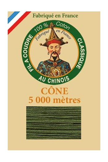 Fil Au Chinois cotton sewing thread 5 000m cone 6840 Caucas
