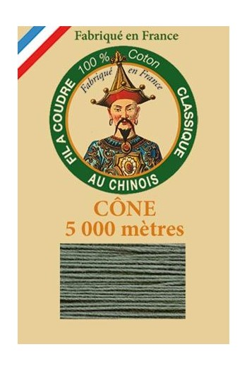 Fil Au Chinois cotton sewing thread 5 000m cone 6814 Lichen
