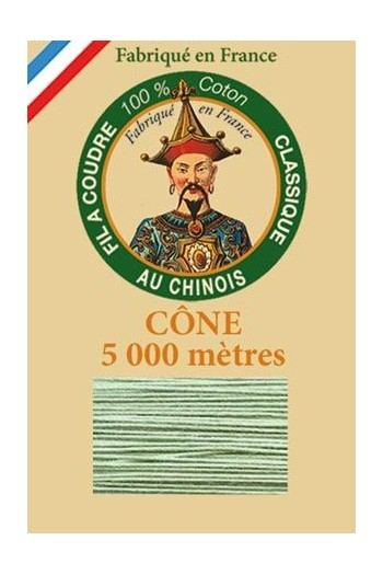 Fil Au Chinois cotton sewing thread 5 000m cone 6830 Chrome