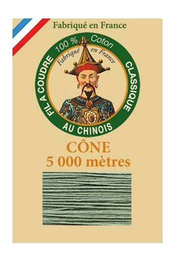 Fil Au Chinois cotton sewing thread 5 000m cone 6803 Verdigris