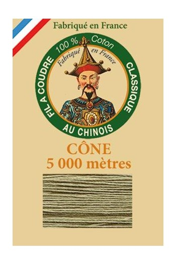 Fil Au Chinois cotton sewing thread 5 000m cone 6297 - Beige