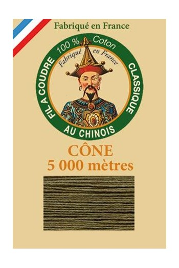 Fil Au Chinois cotton sewing thread 5 000m cone 6844 Dark olive
