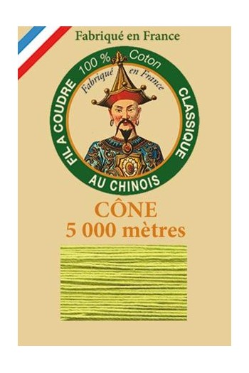 Fil Au Chinois cotton sewing thread 5 000m cone 6835 Lime