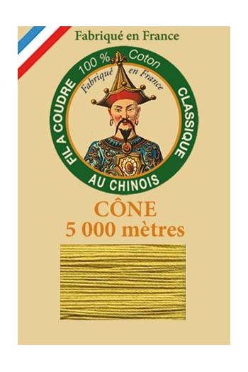 Fil Au Chinois cotton sewing thread 5 000m cone 6837 Mustard
