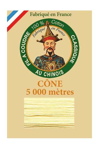 Fil Au Chinois cotton sewing thread 5 000m cone 6323 Lily