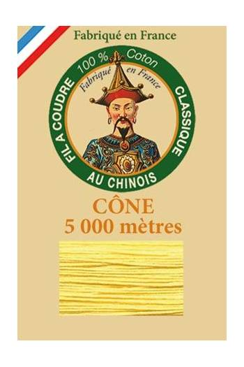 Fil Au Chinois cotton sewing thread 5 000m cone 6335 Orpiment