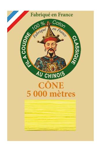 Fil Au Chinois cotton sewing thread 5 000m cone 6327 Dark Canary