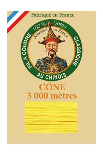 Fil Au Chinois cotton sewing thread 5 000m cone 6342 Yellow