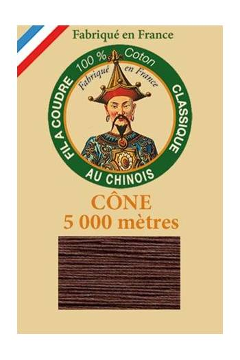 Fil Au Chinois cotton sewing thread 5 000m cone 6117 Brown