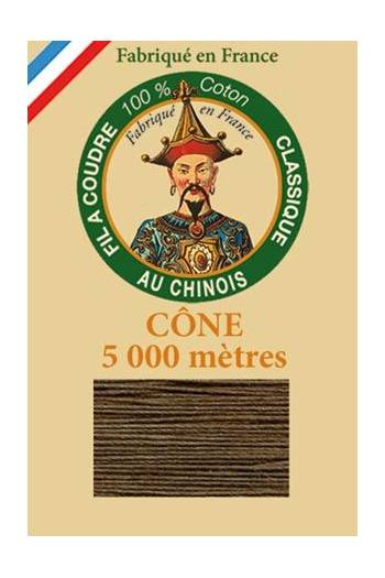 Fil Au Chinois cotton sewing thread 5 000m cone 6213 Coffee