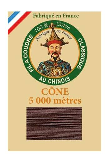 Fil Au Chinois cotton sewing thread 5 000m cone 6104 Otter