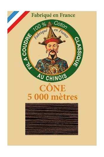 Fil Au Chinois cotton sewing thread 5 000m cone 6105 Chocolate