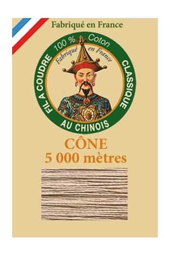 Fil Au Chinois cotton sewing thread 5 000m cone 6245 Sand