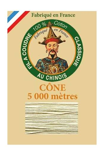 Fil Au Chinois cotton sewing thread 5 000m cone 6272 Pearl