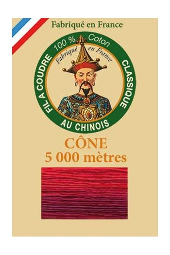 Fil Au Chinois cotton sewing thread 5 000m cone 6932 Fire