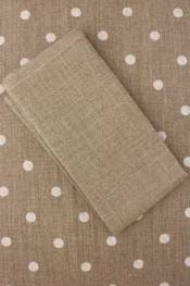 Natural linen napkin to embroider in cross stitch
