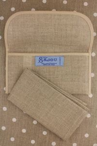 Buy together: natural linen napkin and napkin holder