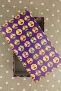 Haberdashery storage box - Fil Au Chinois purple