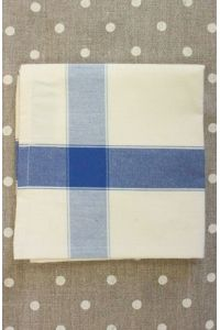 Tea towel to embroider with 6.5 Aida Ecru/Blue