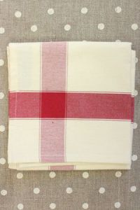 Tea towel to embroider with 6.5 Aida Ecru/Red